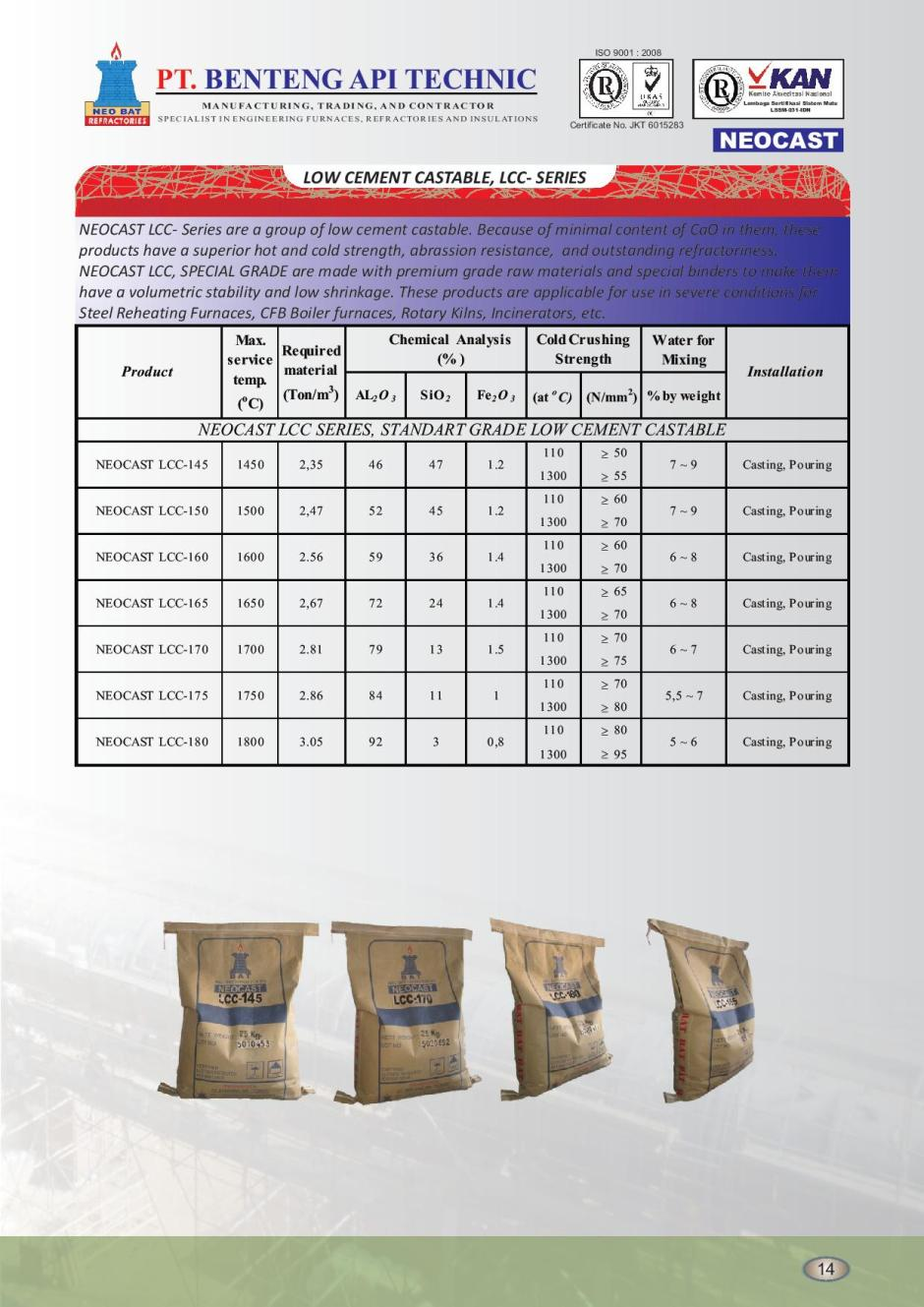 8 LOW CEMENT CASTABLE, LCC- SERIES-page-001